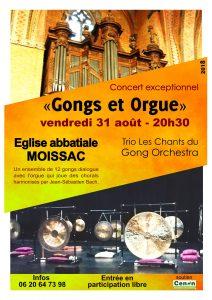 Concert Moissac Trio Les Chants du Gong Orchestra