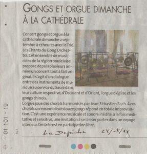 Concert Les Chants du Gong Orchestra