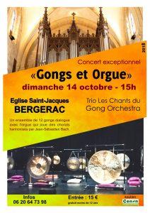 Concert Les Chants du Gong Bergerac 14 octobre 2018 affiche