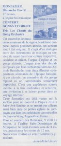 Article-concert-Monpazier-les-chants-du-Gong-Orchestra-gongs-et-orgue