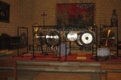 Trio les Chants du gong orchestra Concert gongs et orgues - Beaumont du Périgord 17122012