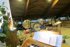 Trio les Chants du Gong Orchestra Concert gongs et orgues - Piquey - Cap Ferret 12 02 2017 038