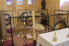 Trio les Chants du Gong Orchestra Concert gongs et orgues - Saint-Martin La Caussade 15 08 14 005