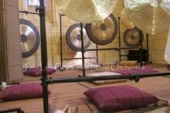Trio les Chants du Gong Orchestra Concert gongs et orgues - Saint-Martin La Caussade 15 08 14 007