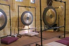 Trio les Chants du Gong Orchestra Concert gongs et orgues - Saint-Martin La Caussade 15 08 14 012