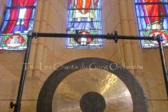 Trio les Chants du Gong Orchestra Concert gongs et orgues - Saint-Martin La Caussade 15 08 14 017