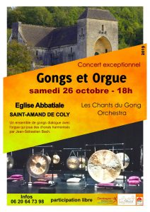 Concert Gongs et Orgue - Les Chants du Gong - Saint-Amand de Coly